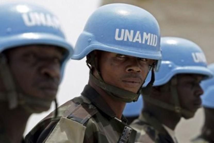 Tentara gabungan UNAMID di Darfur