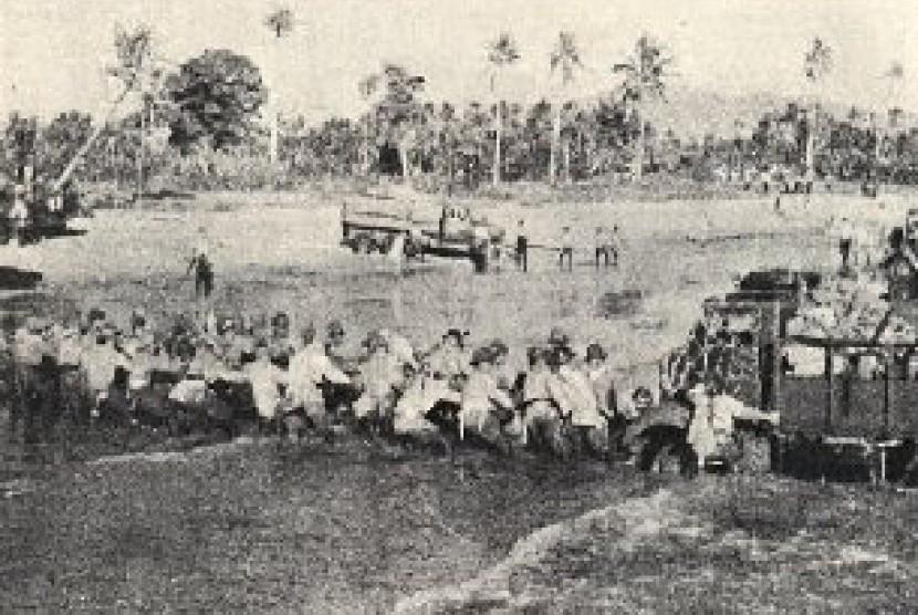 Tentara Jepag mendarat di Kragan,  Maret 1942.