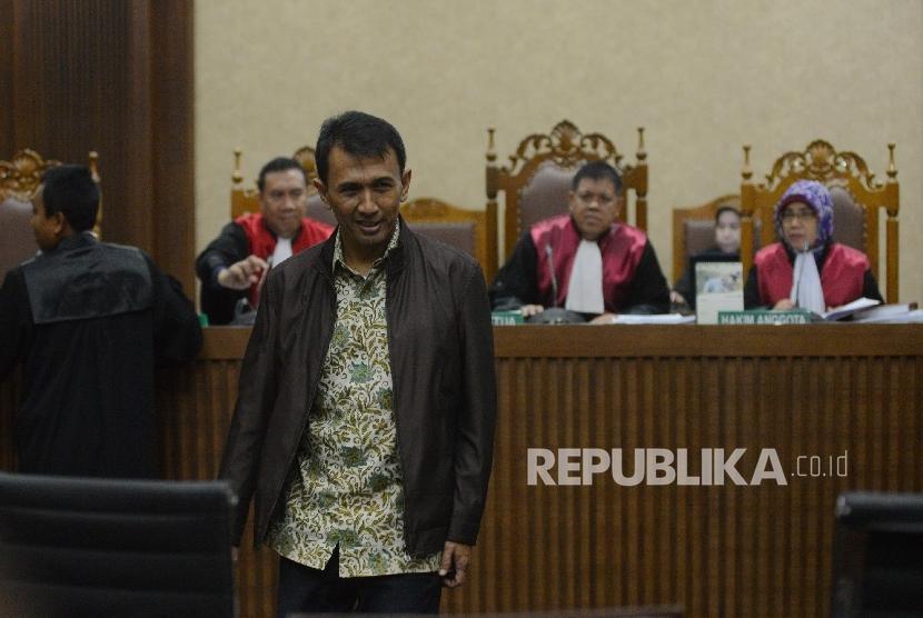 Terdakwa kasus korupsi dana bansos di Sumatera Utara (Sumut) Gatot Pujo Nugroho
