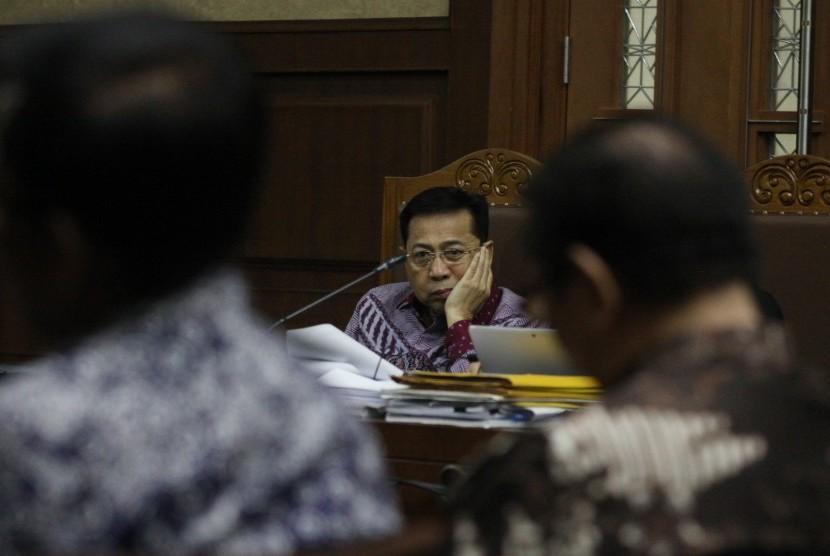 Terdakwa kasus korupsi KTP elektronik Setya Novanto