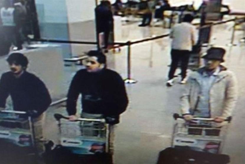 Tersangka pelaku pengeboman bandara Brussels.