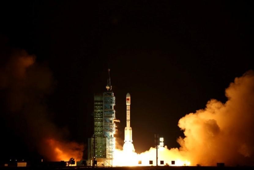 Tiangong-2 saat diluncurkan pada 15 September lalu.