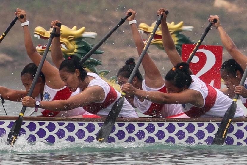 Perahu Naga Indonesia Targetkan Dua Medali Emas Asian Games