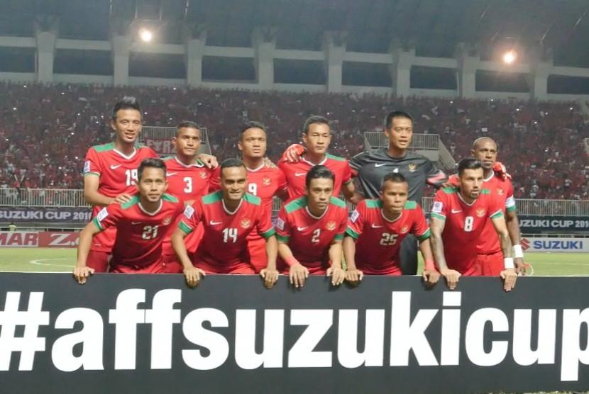 Timnas Indonesia di leg pertama semifunal Piala AFF 2016, Stadion Pakansari Cibinong, Bogor