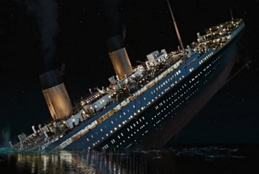 Salah satu scene dalam film garapan sutradara James Cameron, Titanic.