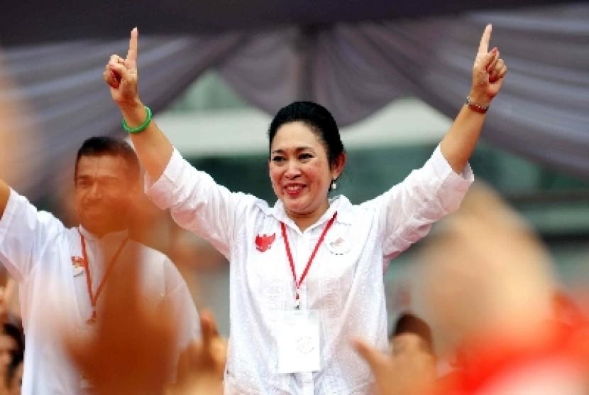 Titiek Soeharto: Ya Sudah Kita Dukung Airlangga
