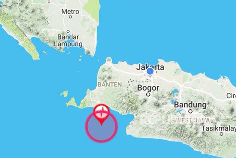 Titik lokasi gempa Lebak Banten