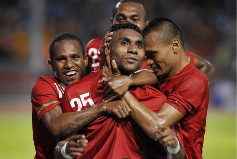 Trio Papua siap tempur lawan Inter Milan.