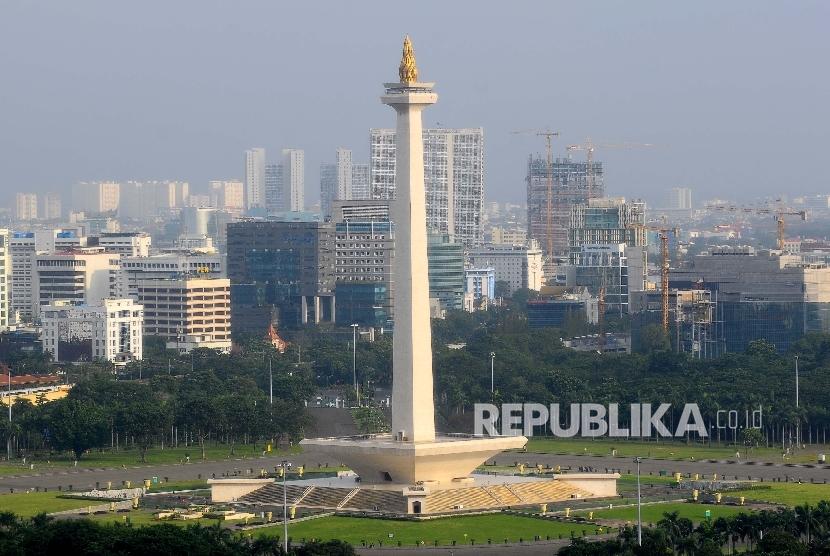 Tugu Monas alias Monumen Nasional yang menjadi ikon kota Jakarta.