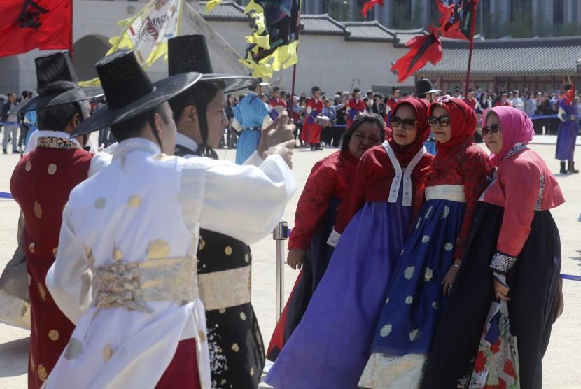 Mahasiswa UMY dan SMU Korea Saling Bertukar Budaya