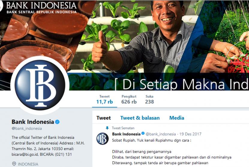 BI, Bank Sentral dengan Followers Twitter Terbanyak