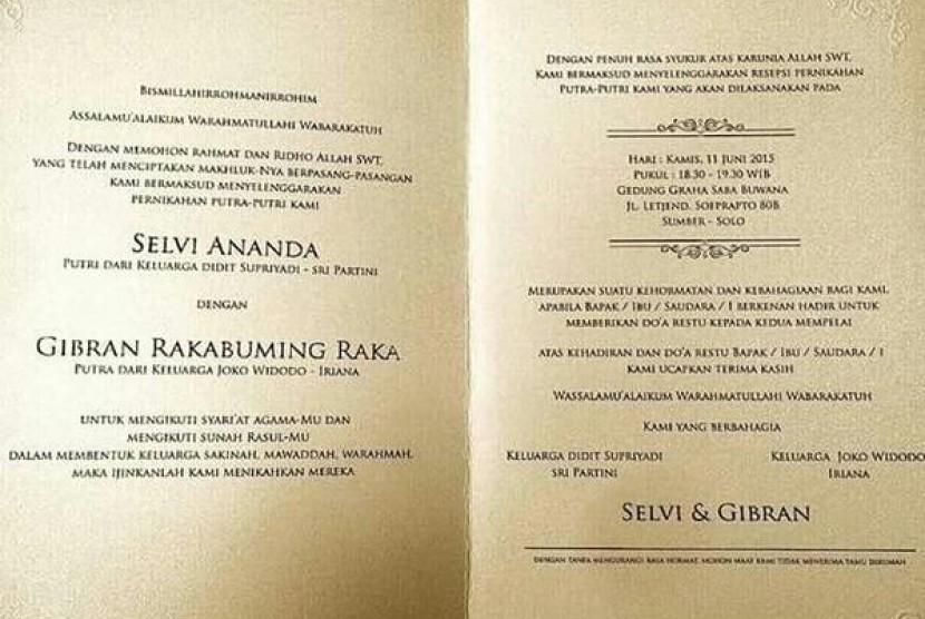 Pernikahan Gibran Bikin Macet, Wali Kota Solo Minta Maaf  Republika Online