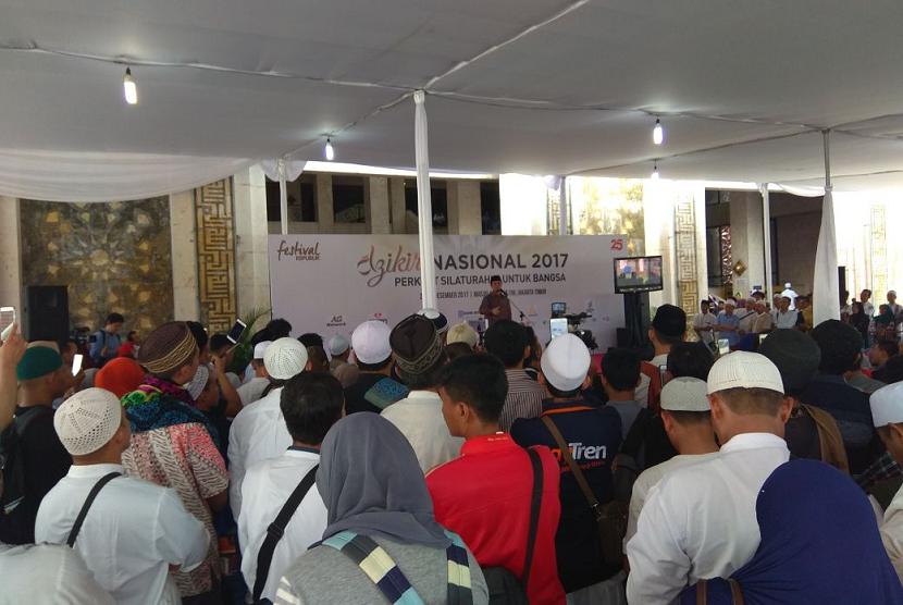 Marawis SMP Cendekia Awali Dzikir Nasional Republika