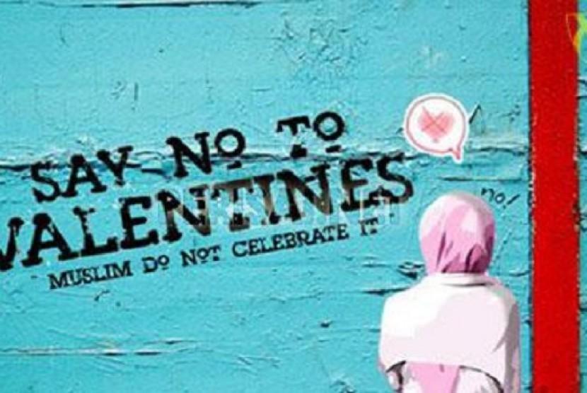 Imbauan larangan perayaan Hari Valentine (ILustrasi)