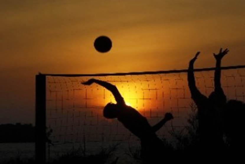 Sumsel Uji Coba Persiapan Voli Pantai Asian Games