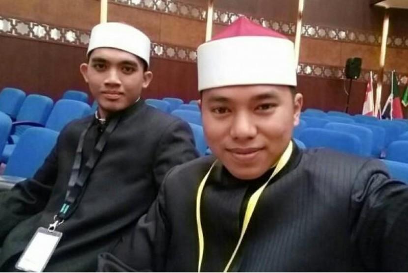 Wakil Indonesia, Lauhin Mahfudz dan Farhan Tsani raih juara II Cabang Syahril Qur'an pada MTQ Internasional 2018 di Kairo, Mesir