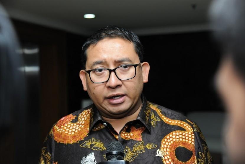 Wakil Ketua DPR RI bidang Koordinator Politik dan Keamanan (Korpolkam) Fadli Zon.