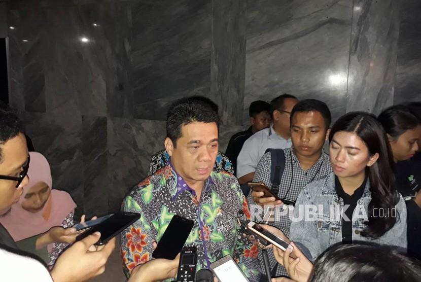 Wakil Ketua Komisi II DPR-RI, Riza Patria dalam selepas RDPU Perppu Ormas dengan wakil pemerintah di Komplek Parlemen Senayan, Kamis (19/10).