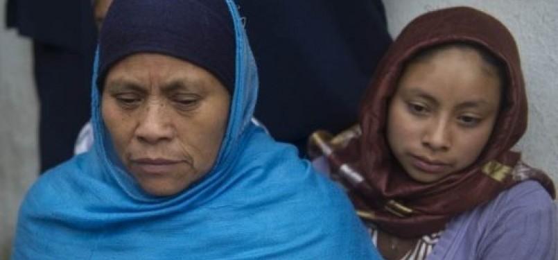 Wanita Tzotzil Indian yang telah menjadi Muslim.