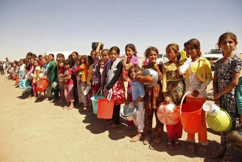 Wanita yazidi di pengungsian