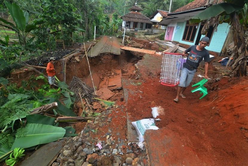 Rumah warga terdampak bencana pergerakan tanah