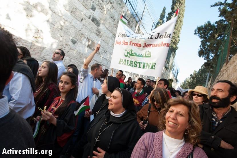 Warga Nasrani Palestina