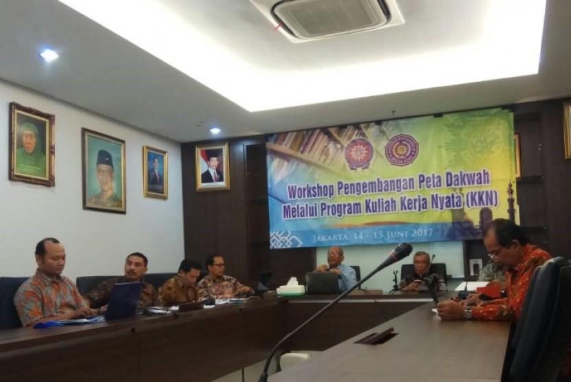 workshop Pengembangkan Peta Dakwah Melalui Program Kuliah Kerja Nyata.