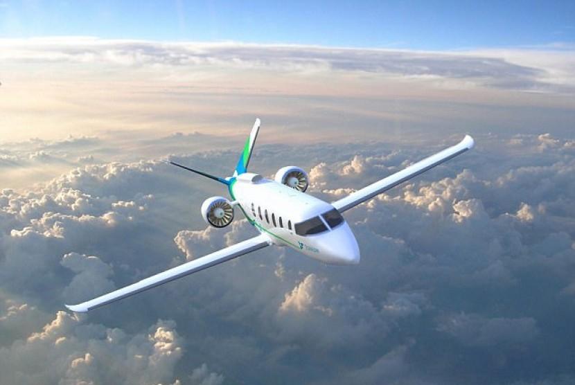 Zunum, pesawat listrik yang akan mengudara tahun 2022.