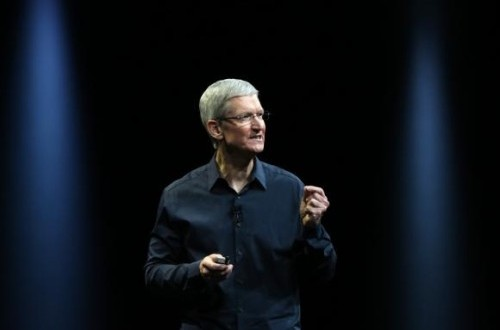 Apple CEO Tim Cook delivers his keynote address at the World Wide developers conference in San Francisco, California June 2, 2014.