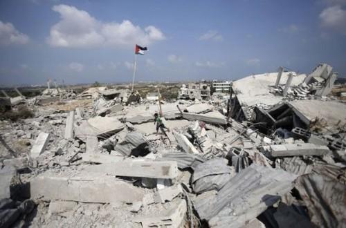 Gaza yang hanur akibat serangan isreal