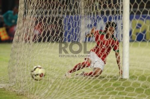 Gelandang Timnas Indonesia U-23, Evan Dimas. (Republika/Edwin Dwi Putranto)