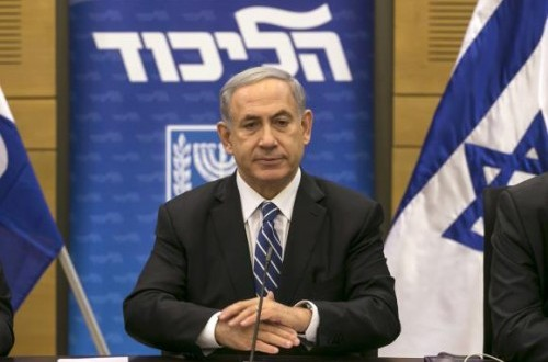 Israel's Prime Minister Benjamin Netanyahu attends a Likud party meeting at parliament in Jerusalem December 8, 2014.