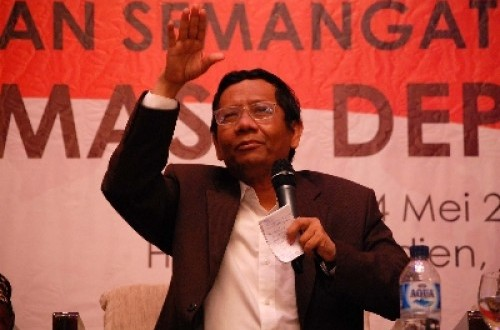 Head of Prabowo-Hatta's campaign team, Mahfud MD (file photo)