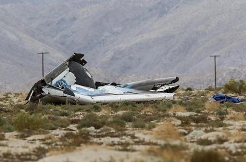 Puing pesawat SpaceShipTwo milik Virgin Galatic