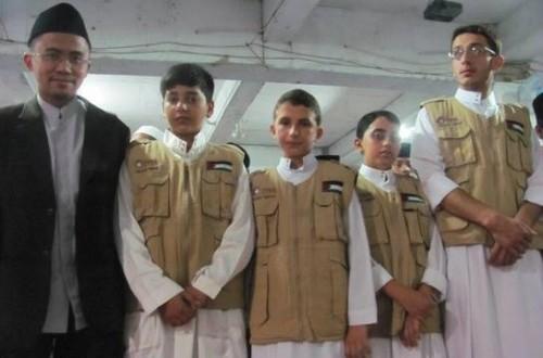 santri daarul quran gaza, palestina, sempat menyaksikan kunjungan imam masjidil haram di pesantren daarul quran