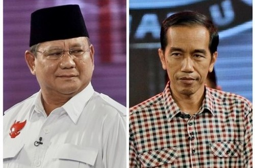 Prabowo Subianto (left) and Joko Widodo (file photo)
