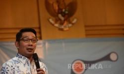 Upaya Pencegahan Korupsi  Walikota Bandung Ridwan Kamil memberikan pemaparan saat menjadi pembicara dalam seminar yang diadakan di Gedung Komisi Pemberantasan Korupsi (KPK), Jakarta, (15/11). Seminar tersebut diadakan sekaligus memperkenalkan aplikasi JAGA
