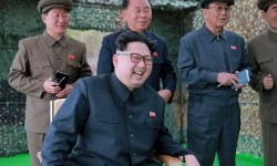 Pemimpin Korut, Kim Jong-un.