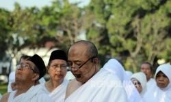 Sejumlah calon jamaah haji mengikuti pelatihan manasik haji (Ilustrasi)