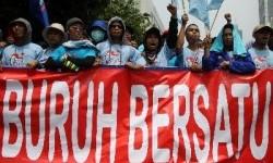 Aksi buruh dalam menyambut Hari Buruh Internasional (ilustrasi)