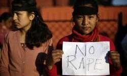 Aksi protes menentang pemerkosaan. (ilustrasi)
