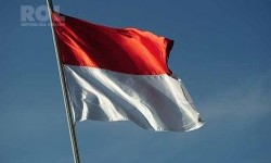 Indonesian red and white flag