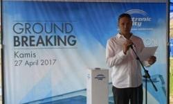 Benjamin Pattiwael, sales & merchandising director PT Electronic City Indonesia saat groundbreaking pusat distribusi baru di Kampung Sabur, Desa Tarikolot, Citeureup, Kamis (27/4).