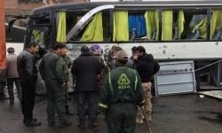 Bom mengguncang Damaskus, Sabtu (11/3).