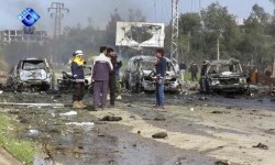 A bomb exploded at refugee camp, Syria, Saturday (April 15).