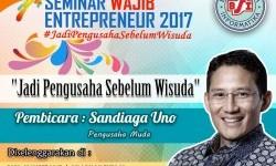 BSI akan menggelar seminar wirausaha bersama pengusaha muda sukses, Sandiaga Uno.