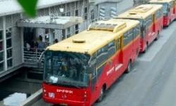 Busway Transjakarta. Ilustrasi