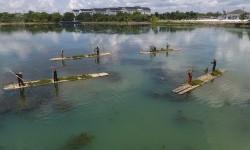 Danau ski air Jakabaring Sport CIty (JSC), Palembang, Sumatera Selatan.
