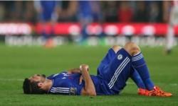 Diego Costa mengerang kesakitan