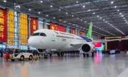 Fasilitas produksi pesawat terbang milik perusahaan dirgantara Cina,  Commercial Aircraft Corporation of China Ltd. (Comac).